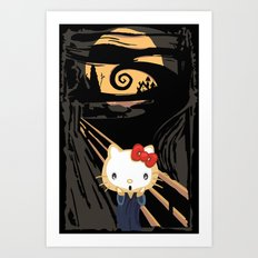 The Halloween Screaming cat apple iPhone 4 4s 5 5s 5c, ipod, ipad, pillow case and tshirt Art Print
