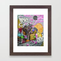 candy house Framed Art Print
