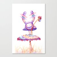 In The Land Of Magic Mushrooms Canvas Print