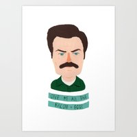 Ron Swanson / Parks And … Art Print
