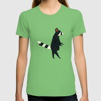 Racсoon Origami Womens Fitted Tee Grass SMALL