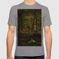 Padley Gorge Trail in Autumn Mens Fitted Tee Athletic Grey SMALL
