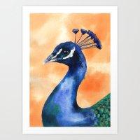 Peacock Print, Bird Art,… Art Print