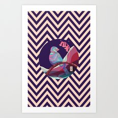 bird in pattern Art Print
