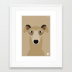 Greyhound (Galgo Ingles) Framed Art Print