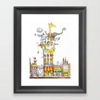 Odd Neighborhood (color) Framed Art Print