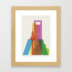 Shapes Of Madrid. Accura… Framed Art Print