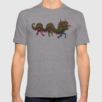Happy Year of the Dragon  Mens Fitted Tee Athletic Grey SMALL
