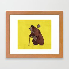 Worker Bear Framed Art Print