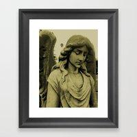 Sepia Angel Framed Art Print