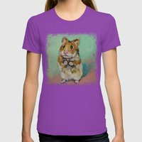 Hamster Womens Fitted Tee Ultraviolet SMALL