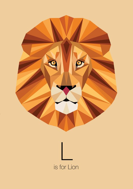 L is for Lion Art Print