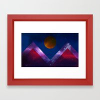 Denver Flag/Galaxy Framed Art Print