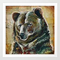 Bear Face Art Print