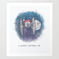 A Novelty Christmas TIE Art Print