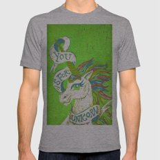 You is for Unicorn Mens Fitted Tee Athletic Grey SMALL