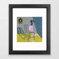In the dog house. Question series Framed Art Print