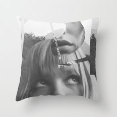 She left pieces of her life Throw Pillow