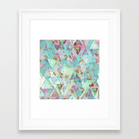 Candy Geometric  Framed Art Print