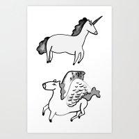 Mythical Thoroughbreds Art Print