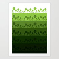 Green palette ultimate Art Print