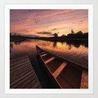 Mersey River Glow Art Print