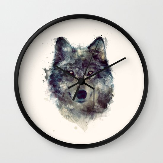 Wolf // Persevere  Wall Clock