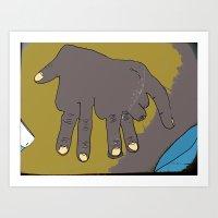 Handephant Art Print