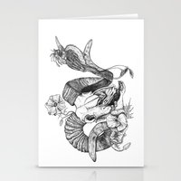 The ramskull and bird Stationery Cards