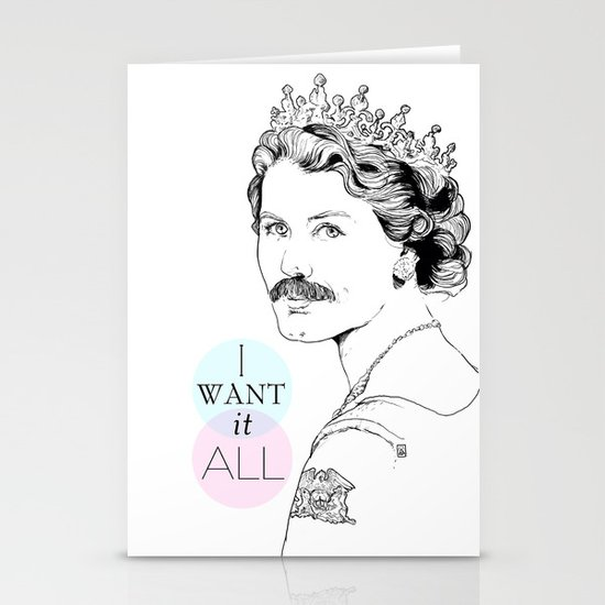 I Want It All Stationery Card