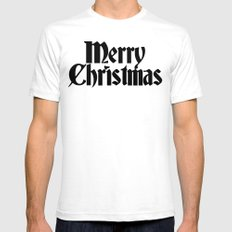 Merry Christmas Mens Fitted Tee White SMALL