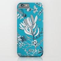 Cool Blue Cradle Flora iPhone 6 Slim Case