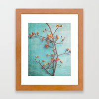 She Hung Her Dreams on Branches Framed Art Print