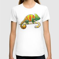 T-shirt featuring Christmas Chameleon by Zoo&co on Society6 Products