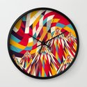 Colorful Mountains Wall Clock
