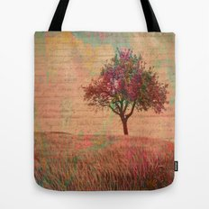 The Kissing Tree, Landscape Art Photo Collage Tote Bag