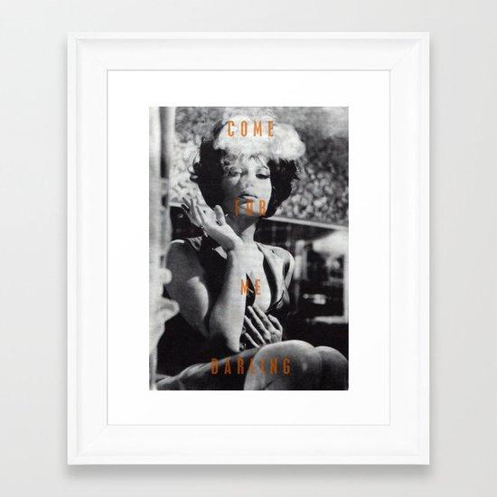 Come For Me, Darling Framed Art Print