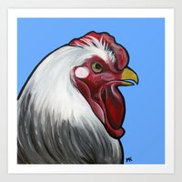 Buddy The Rooster Art Print