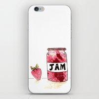 Strawberry VS Jam iPhone & iPod Skin