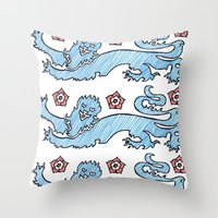 3 Lions Throw Pillow