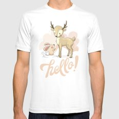 the deer & rabbit SMALL Mens Fitted Tee White