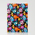 Weird Dudes Pattern Stationery Cards