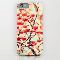 Botanical Malus, Crabapple Wild Apple Ripe Fruit on Tree Vintagely iPhone 6 Slim Case