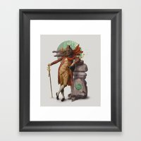 I'm my own power-animal Framed Art Print