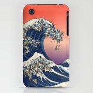 The Great Wave Of Pug   iPhone (3g, 3gs) Slim Case