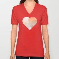 Danish Heart Coral Unisex V-Neck