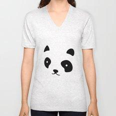 Minimalistic Panda face Unisex V-Neck