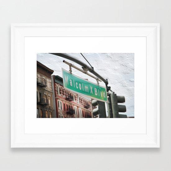 Malcom X Blvd Framed Art Print