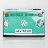 Adventure wolkswagen. Summer dreams. Green iPad Case