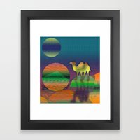 Pop Camel Framed Art Print